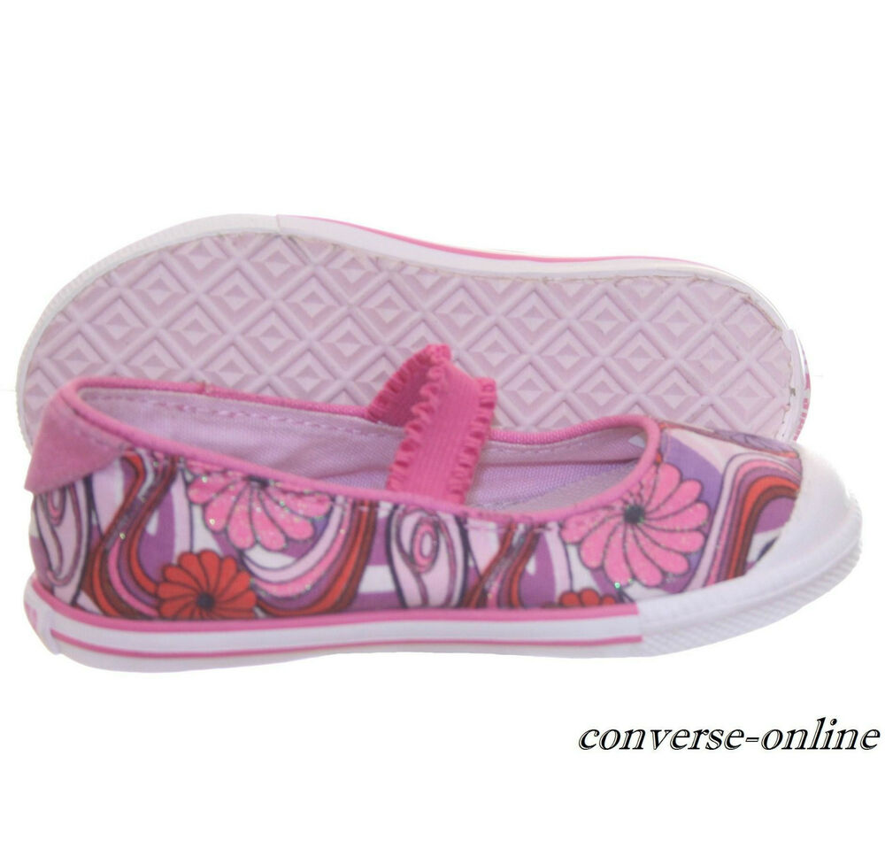 aaf42e78088d Details about Girl s Infants CONVERSE All Star PINK MARY JANE SLIP ON Trainers  Shoes SIZE UK 7
