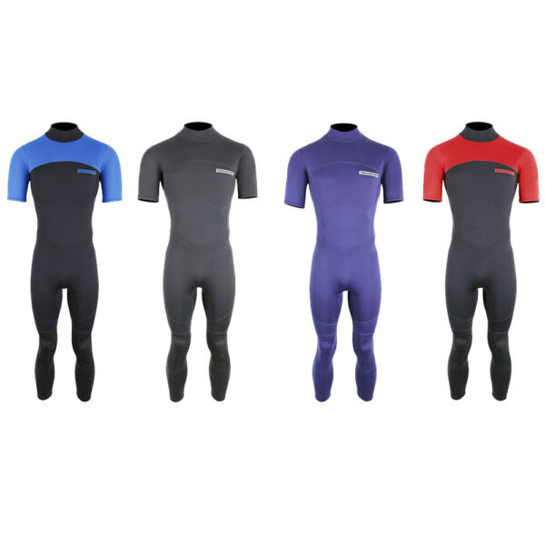 b06d86a87ed5 MD Mens 2.5mm Thunderclap Short Sleeve Full Leg Wetsuit by TBF Spring Water