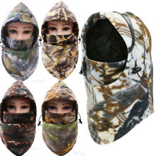 Fleece Camo Neck Face Cover Balaclava Hat for Cold Weather Hunting Ski Face Mask