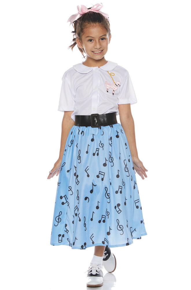 9e9a893270d26 Details about Brand New Jukebox 50'S Poodle Skirt Set Child Costume