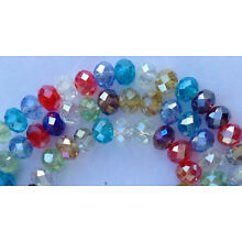 98PC Multicolor Crystal Faceted Gems Loose Beads 4x6mm