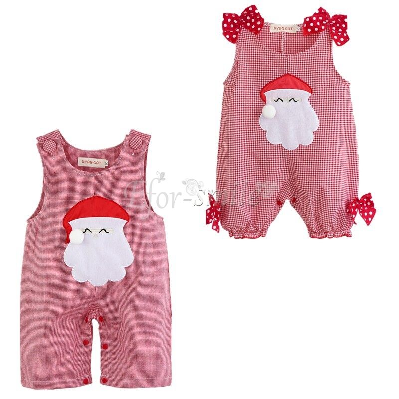 839438730511 Details about Infant Baby Girls Boy Clothes Christmas Romper Outfit Santa  Clause Costume 0-18M