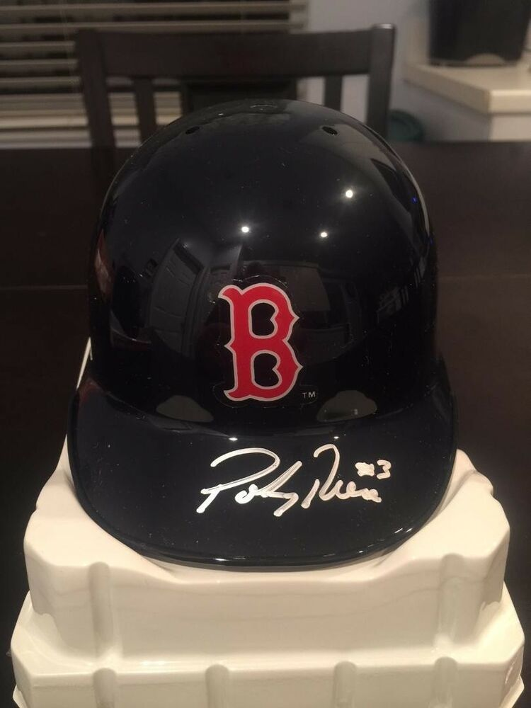 Details About Pokey Reese Autographed Signed Boston Red Sox Mini Helmet Sure Shot COA