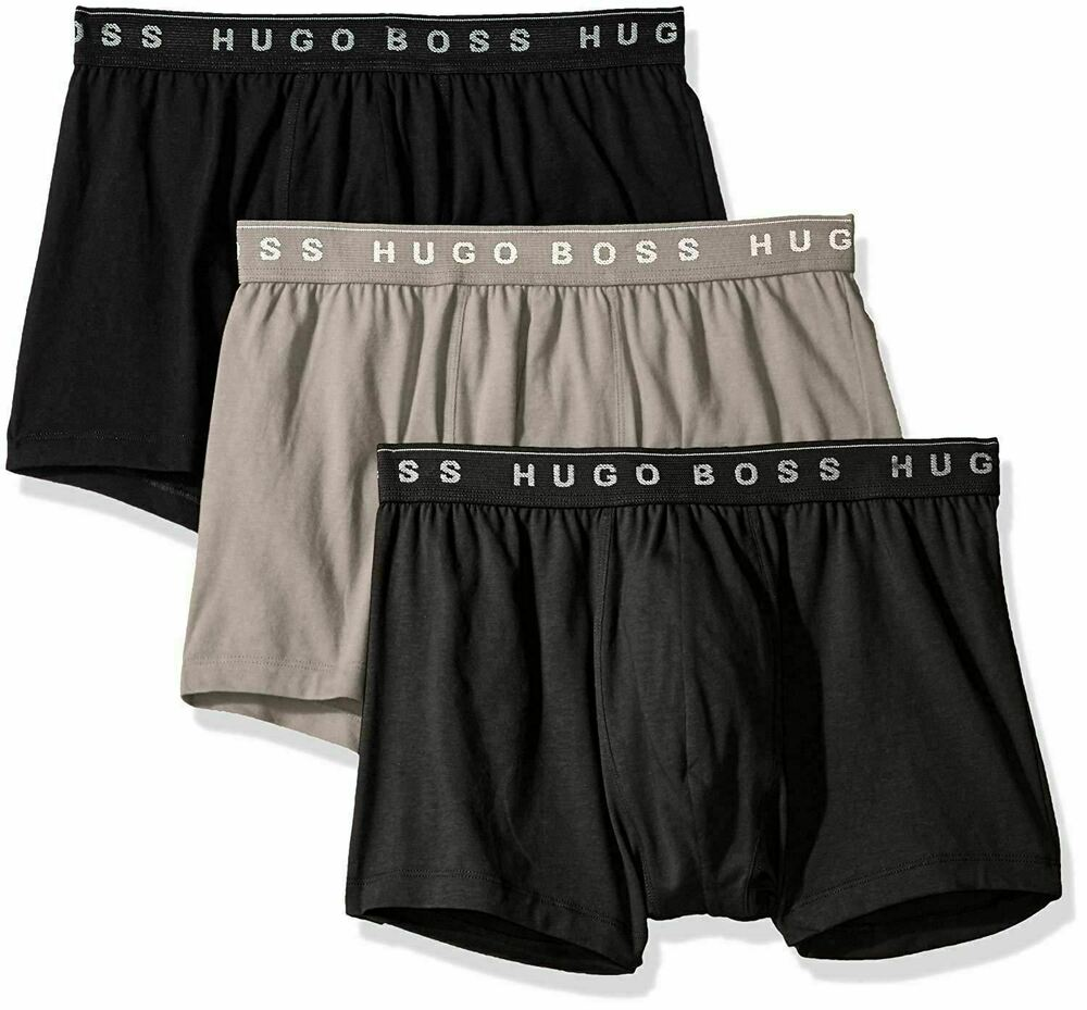 e0bdcb28 Details about [50325383-061] Mens Hugo Boss Cotton Trunk Boxer 3 Pack -New  Grey/Charcoal/Black