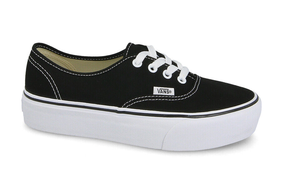 06e6037eef1 Details about WOMEN S SHOES SNEAKERS VANS AUTHENTIC PLATFORM  VA3AV8BLK