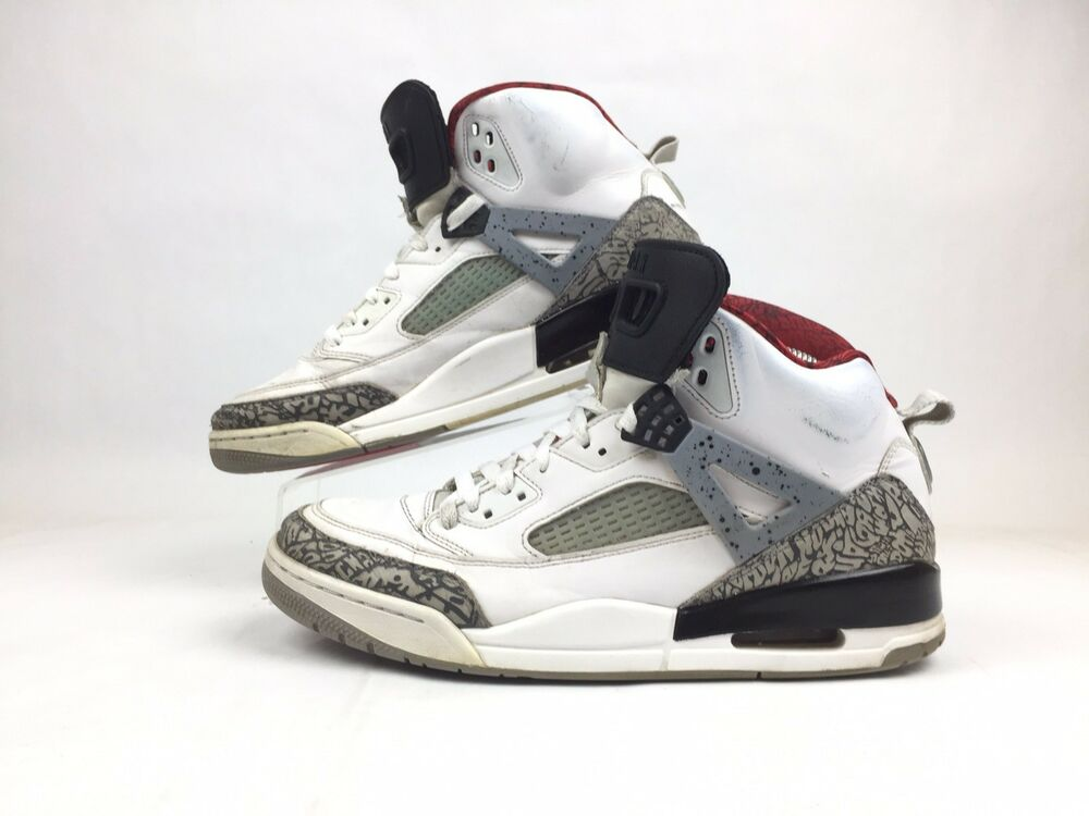 check out edaec f6b12 Details about Jordan Spizike White Cement Grey Varsity Red 315371-122 Mens  Size 10.5