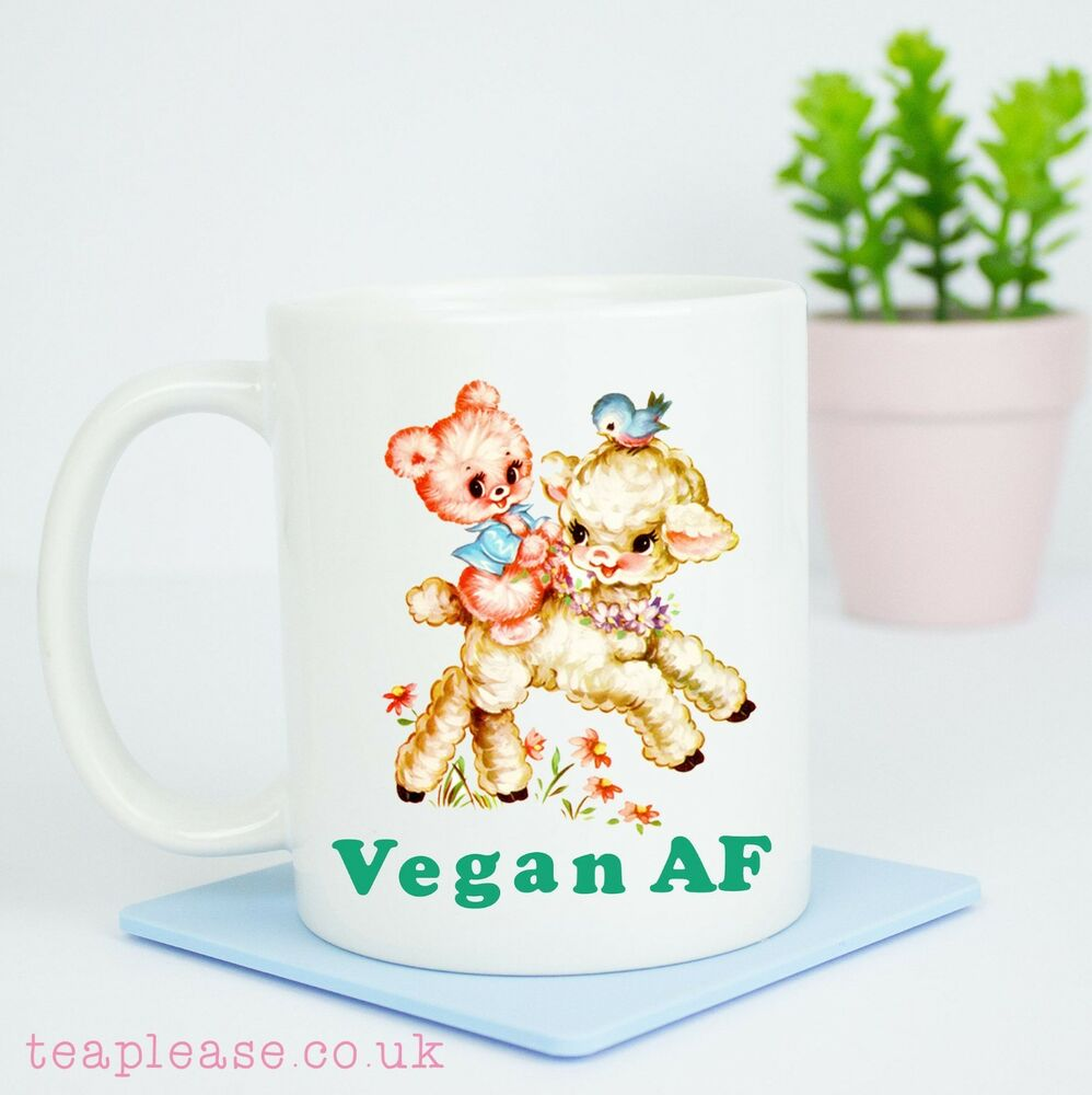 Details About Vegan AF Veganism Mug Christmas Birthday Gift Gifts