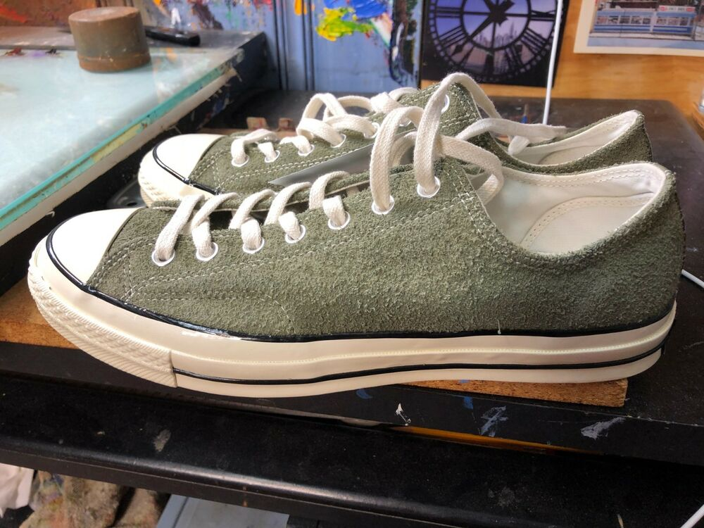 d319216be2ea Details about Converse Chuck Taylor All Star 70 OX Medium Olive Egret Suede  US 11 Men 157588C