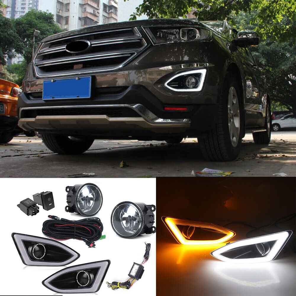 Led Drl Daytime Running Lamps   Fog Lights Harness Kit O