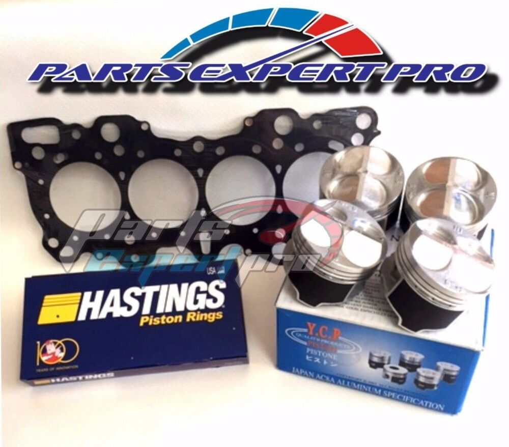 YCP 81MM HIGH COMPRESSION PISTONS HEAD GASKET & RINGS
