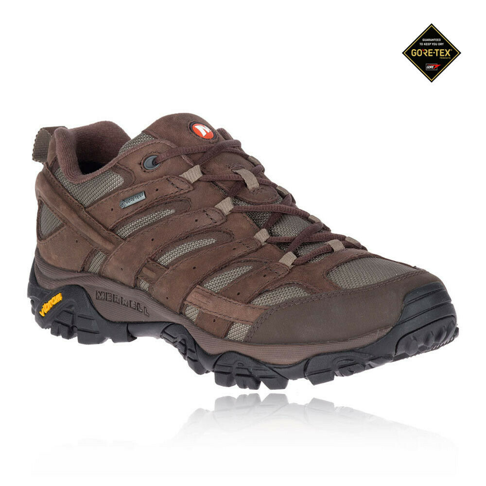 Merrell Mens Moab 2 Smooth Gore Tex Walking Shoes Brown