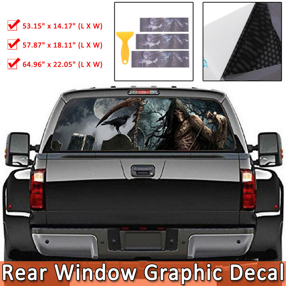 Details about grim reaper death devil rear windshield window decals car pick up vinyl sticker