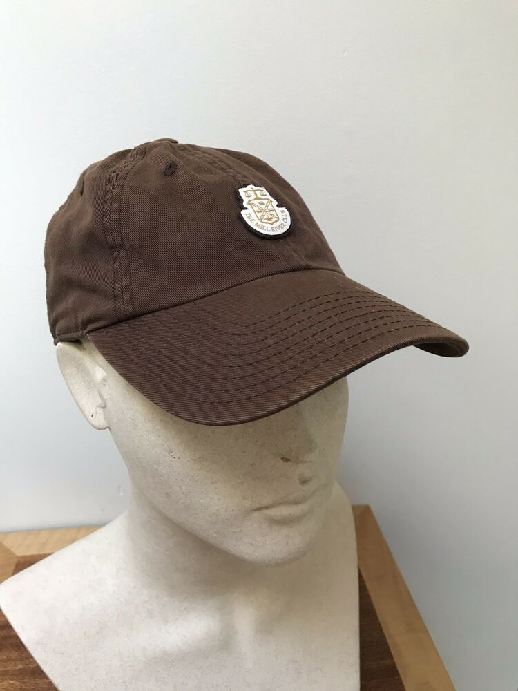 Details about The Mill River Club DARK BROWN Golf Hat Oyster Bay 423bc803ff2