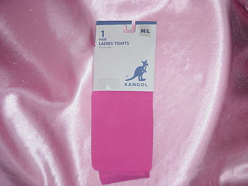NIP Womens KANGOL PINK Stretch Tights M L 5 6
