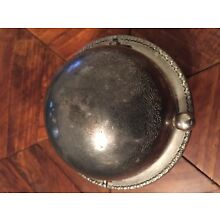 Silverplated Butter/caviar dish with roll top circular dome.