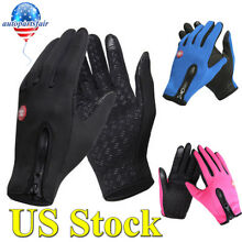 Men Women Thermal Warm Fleece Lined Gloves Insulated Touchscreen Sports Driving
