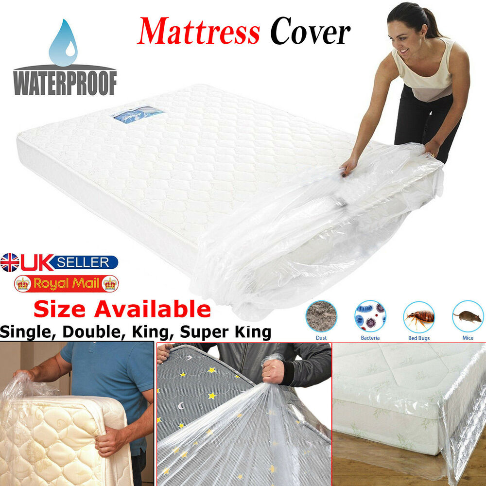 King Size Bed Mattress Storage Bag Heavy Duty Plastic Cover Dust