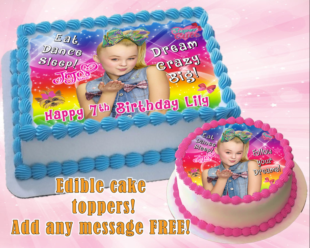 Jojo Siwa Edible Birthday Cake Topper Personalized Item Premium