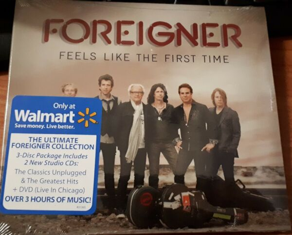 FOREIGNER - FEELS LIKE THE FIRST TIME  - 2 CD + DVD  SIGILLATO (SEALED)