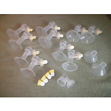 MEDELA BREASTPUMP BREASTSHIELDS/CONNECTORS/VALVES/MEMBRANES - FREE SHIPPING