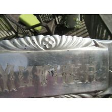 VINTAGE ORIGINAL ''MOTHER'' COFFIN PLAQUE SILVER PLATED HIGHLY DETAILED