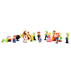 Kyпить 18 pcs Super Mario Brothers Bros Action Figure Cake Toppers Toys Playset Gift  на еВаy.соm