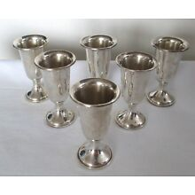 Vintage Towle Sterling Silver Sherry Apertif Shot Cups Stems set of 6