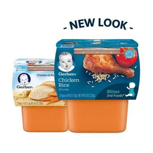 Gerber 2nd Foods Nutritious Dinners Chicken Rice Baby Food
