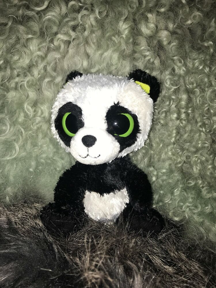 Details about Ty Beanie Boos- Bamboo The Panda Plush Toy 8db24bd718d