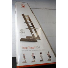 STORE DEMO Stokke Tripp Trapp Chair Black w/ Safety Harness & Extended Gliders