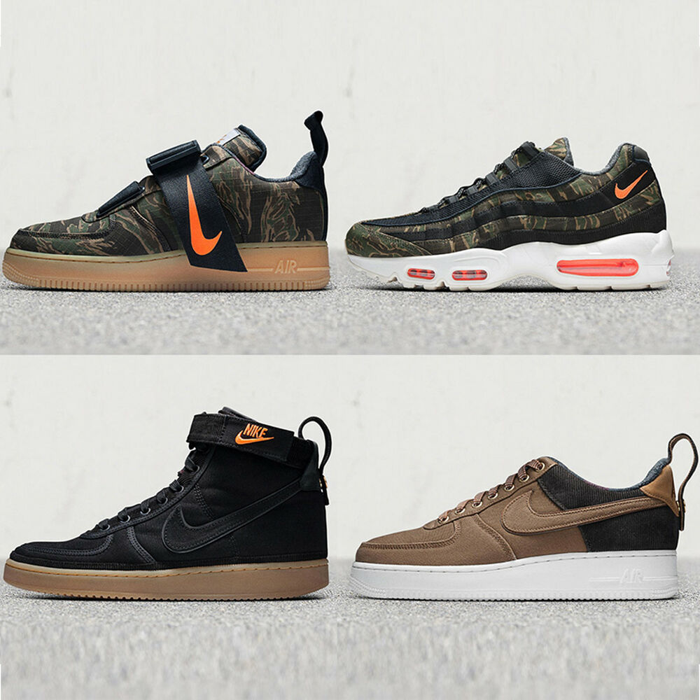 best value 7edc2 7a0bc Details about Nike x Carhartt WIP Tiger Camo Brown Canvas Max 95 Air Force  1 Vandal QS Pick 1
