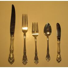 ALVIN STERLING CHATEAU ROSE- 5 PIECE PLACE SETTING