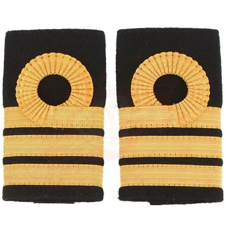 img-Royal Navy Cdr Commander Rank Insignia Shoulder Strap Curl Epaulette