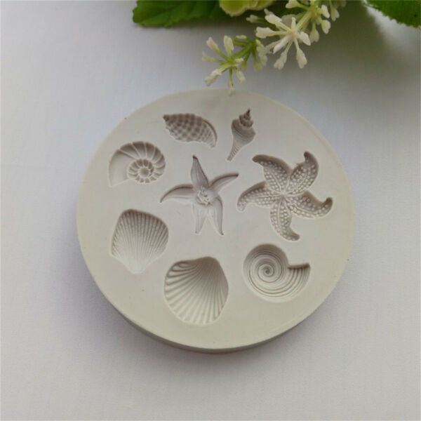 Ocean Biological Conch Sea Shells Chocolate Cake Silicone Mold Kitchen To Lr