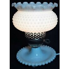Vintage Hobnail White Milk Glass and Brass Table Lamp ~Beautiful Vintage Piece~