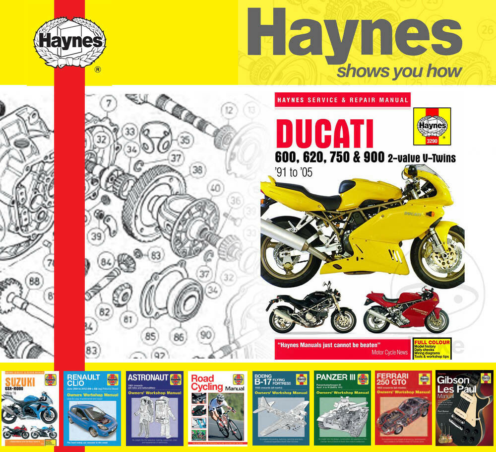 details about haynes service / repair manual for ducati monster