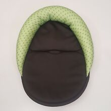 Infant Car Seat Cushion Insert Green Brown Polka Dot Head Rest Support Neutral
