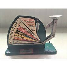 Vintage Green Jiffy Way Egg Scale VAL-A Chicago IL