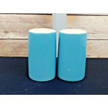 Blue Ceramic Salt and Pepper Shakers Vintage Retro Made in Japan
