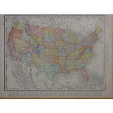 1895 Rand McNally United States and North America maps, from atlas