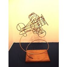 VTG Curtis Jere KINETIC Metal WIRE SCULPTURE AIRPLANE Plane MID CENTURY