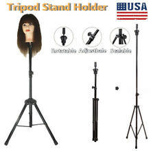 Mannequin Head Tripod Hairdressing Training Head Holder Wig Stand US STOCK G2C9