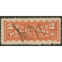 Canada F1a Used 2c vermilion Registration Stamp -Cat $15.00