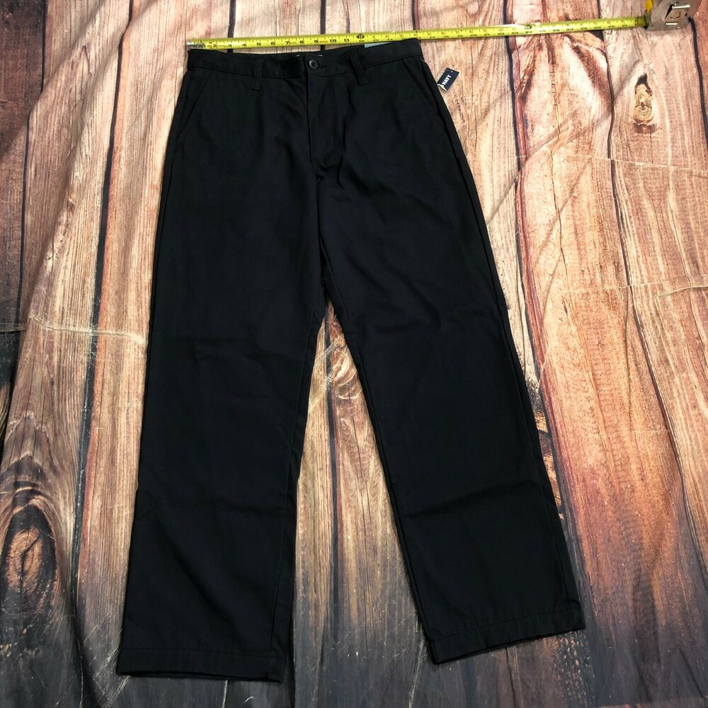 1c1fef34667e37 Details about NWT OLD NAVY Men Chinos Khakis Pants Size 31x30 Dark Blue  Flat Front Casual D134