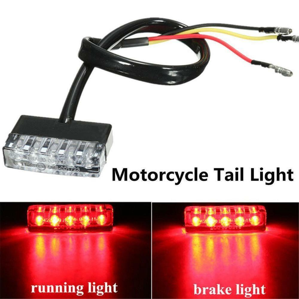 12V 5 LED Motorcycle Scooter ATV Bike Red Rear Tail Stop