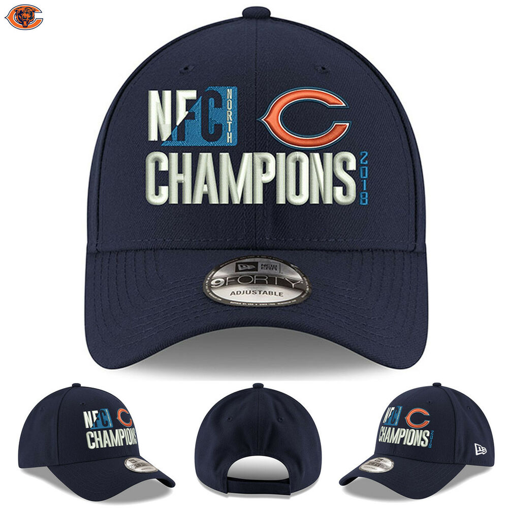 5cc7effa9 Details about Chicago Bears 2018 NFC North Division Champions New Era Hat  9FORTY Adjustable