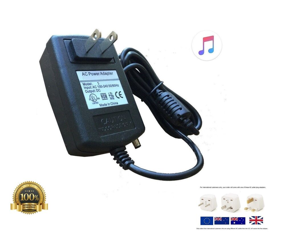 ac adapter power supply for zoom g3n guitar effects pedal ebay. Black Bedroom Furniture Sets. Home Design Ideas
