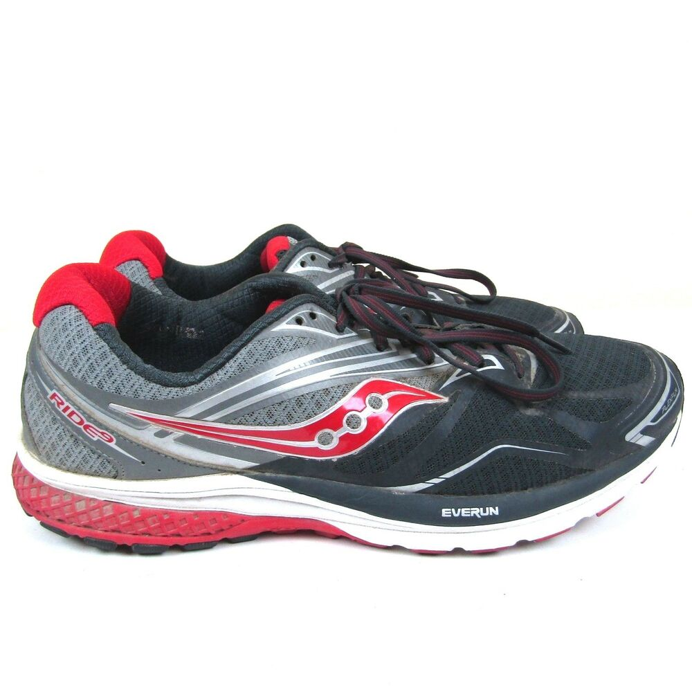 cb4c7f7f43dc Details about Saucony Ride 9 Everun Men s Size 12.5M Gray Running Shoes  S20318-1