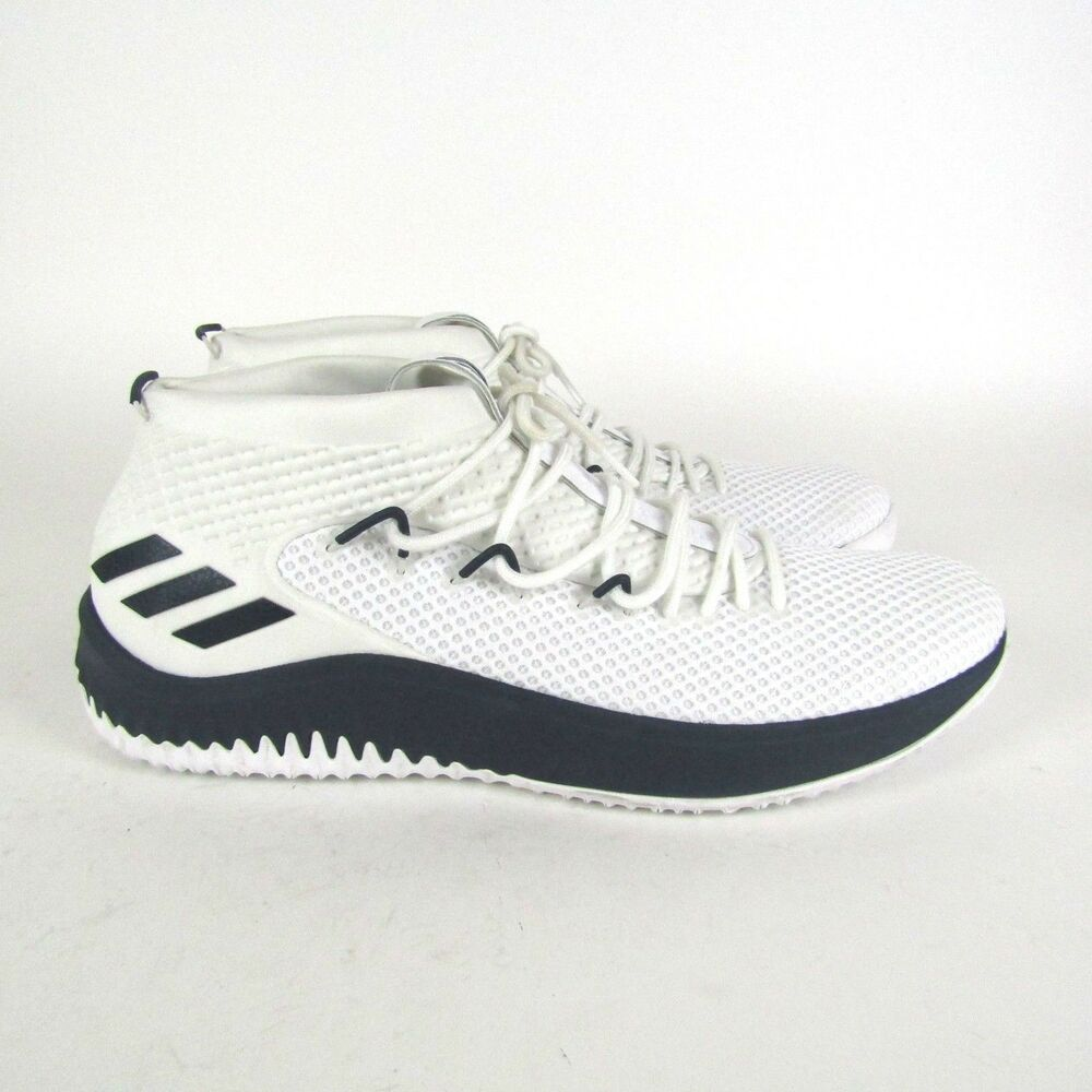 finest selection 15157 b2a6e Details about Adidas Dame 4 Player Exclusive Mens Basketball Shoes White  Blue AC7267 Size 19