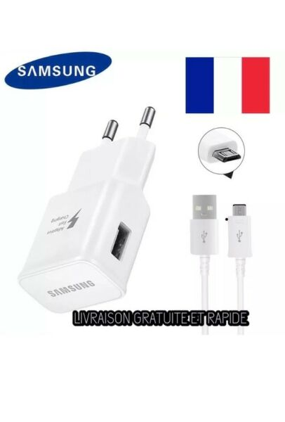 ORIGINAL CHARGEUR SAMSUNG CABLE USB DATA MICRO  SAMSUNG S5/S6/S7+NOTE 4